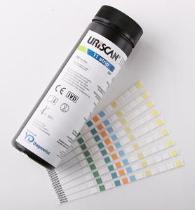 Тест полоски и контрольные материалы для анализаторов мочи uriscan  Тест полоски uriscan представляют собой пластиковую полоску на которой крепятся тестовые зоны с нанесенными на них реактивами