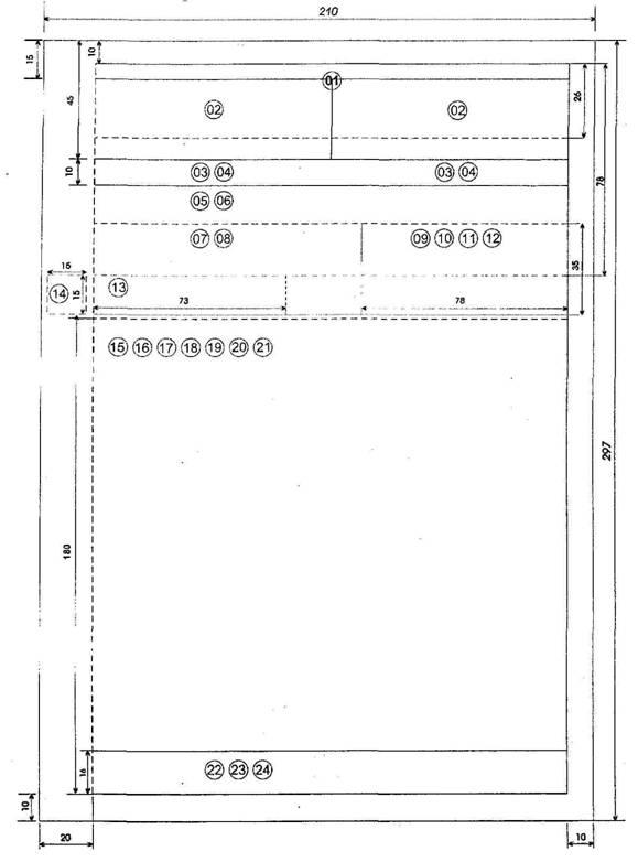 Схема расположения реквизитов