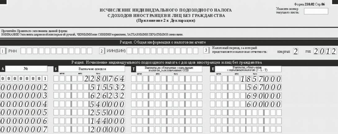 Исчисление налогов ип в форме 91000