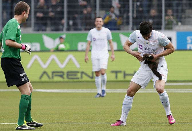 фото футболистов во время игры